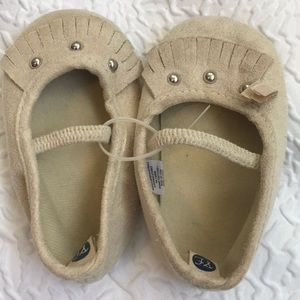 First Steps Baby Tan Ballerina Shoes 9 - 12 Months